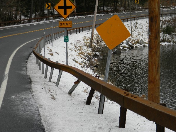 guard rail damage