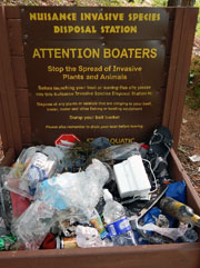 boat launch trash